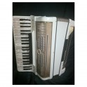 "Белый немецкий аккордеон ""Barcarolle Super Lux"" - 41/120"