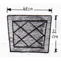 Подушка защитная черная замша прошитая